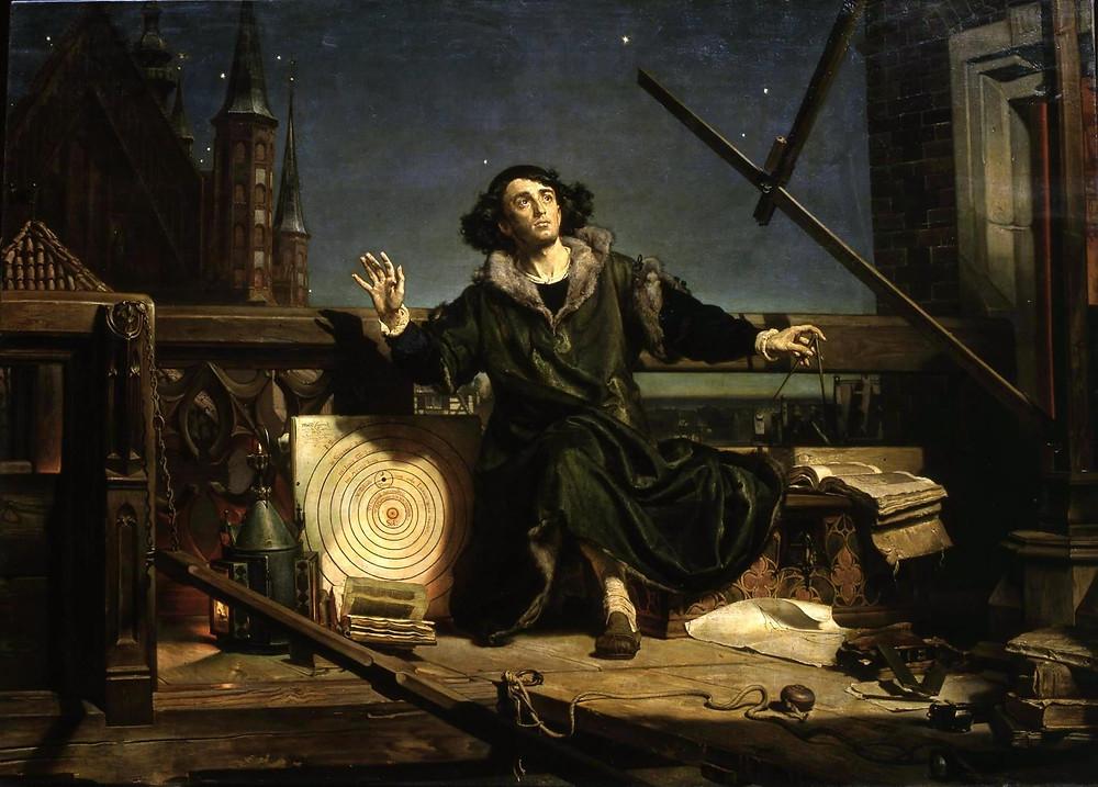Коперник. Бесіда з Богом. Картина Яна Матейко (1872)