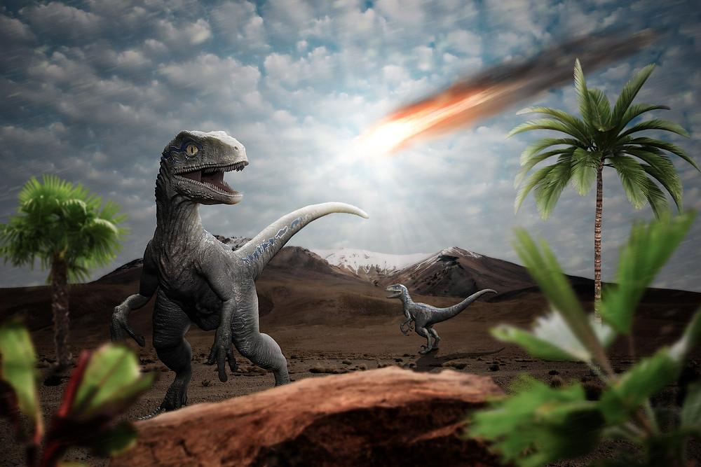 Загибель динозаврів. Ілюстрація.