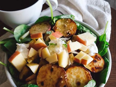 Warm Fall Spinach Salad