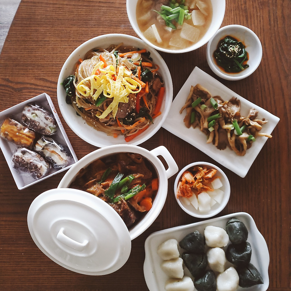An image of assorted Korean dishes