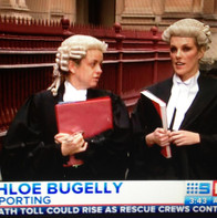 TV coverage - barrister wig and robes wa