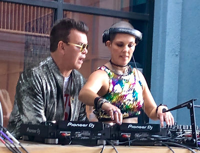 Paul Oakenfold and Bowie Jane