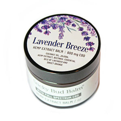 Lavender Breeze – Sticky Bud Balm – 600mg  2oz Jar