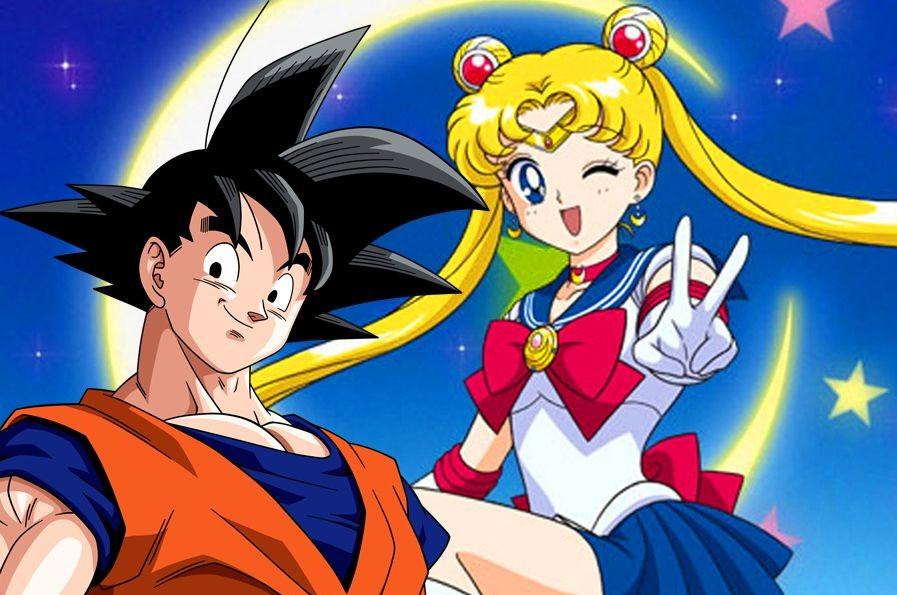 Goku e Sailor Moon