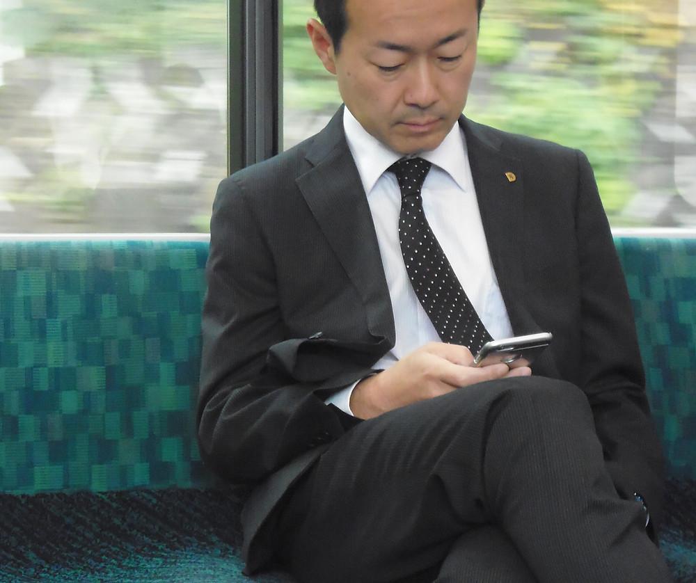 Lavoratore sul treno