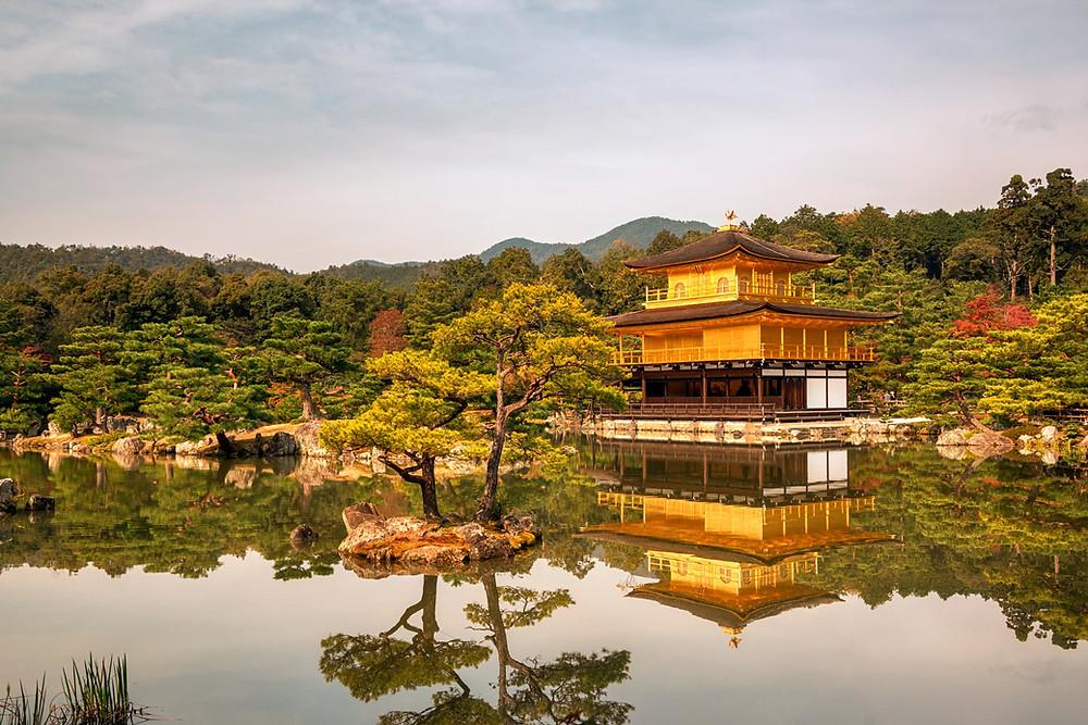 Vista del Kinkakuji