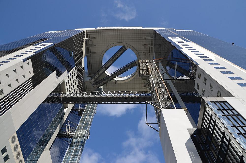 Umeda Sky Building dal basso