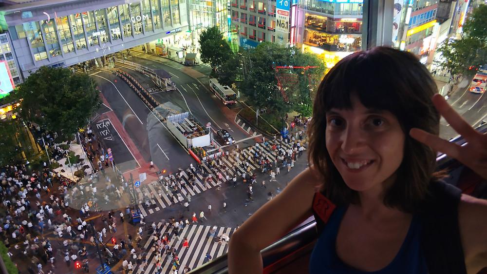 Vista dall'alto dell'incrocio di Shinjuku