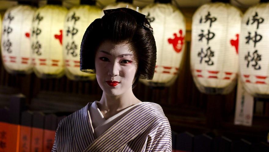 Geisha nel quartiere Gion a Kyoto