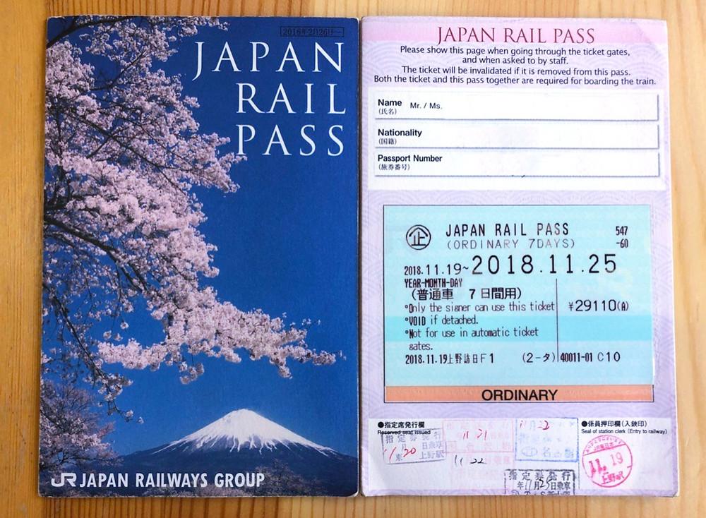 Come si presenta il Japan Rail Pass