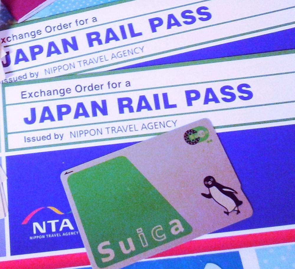 Suica e Japan Rail Pass