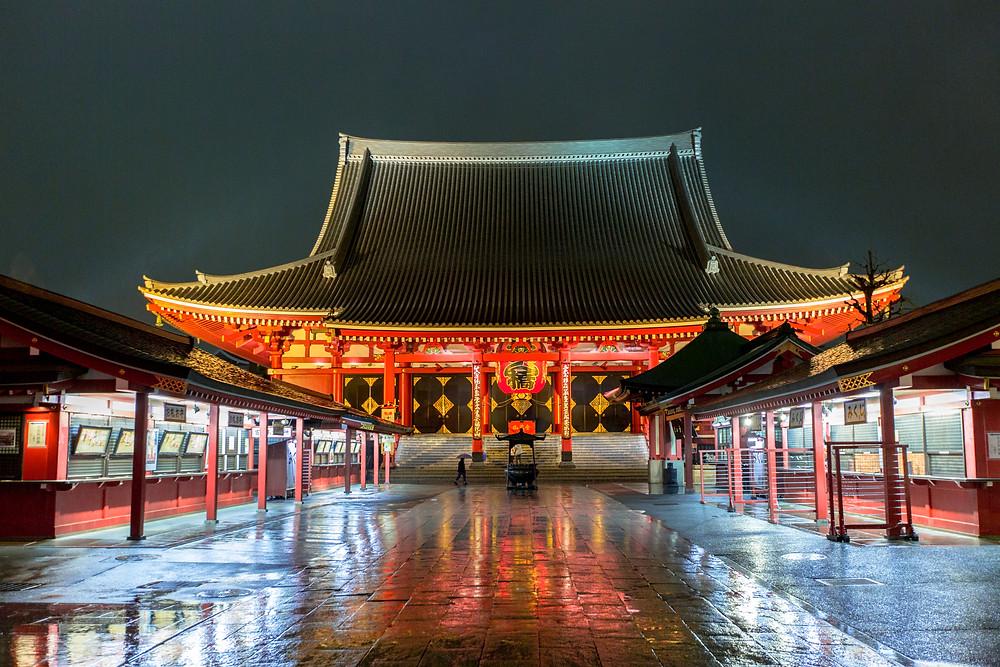 Senso-ji di notte a Tokyo