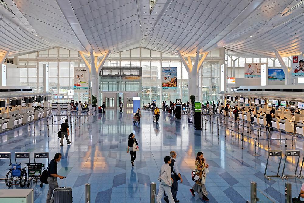 Interno dell'aeroporto di Haseda