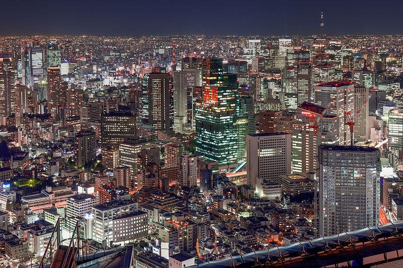 Vista panoramica di Roppongi