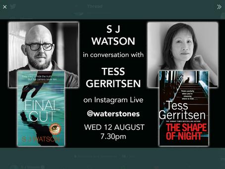 S J Watson and Tess Gerritsen reunite