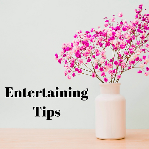 Entertaining Tips Article