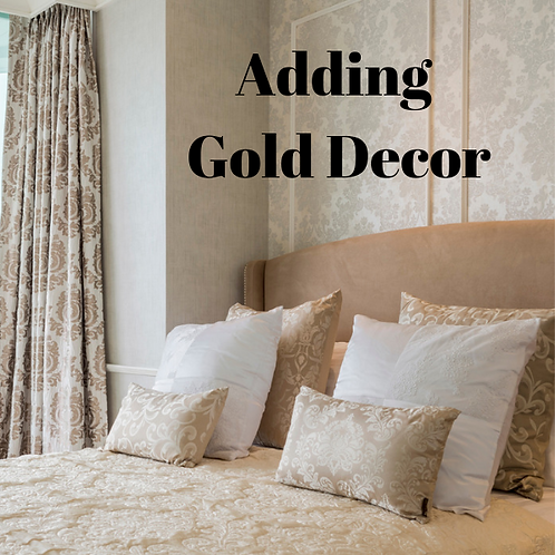 Adding Gold To Decor Article