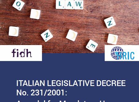 Italian Legislative Decree No. 231/2001