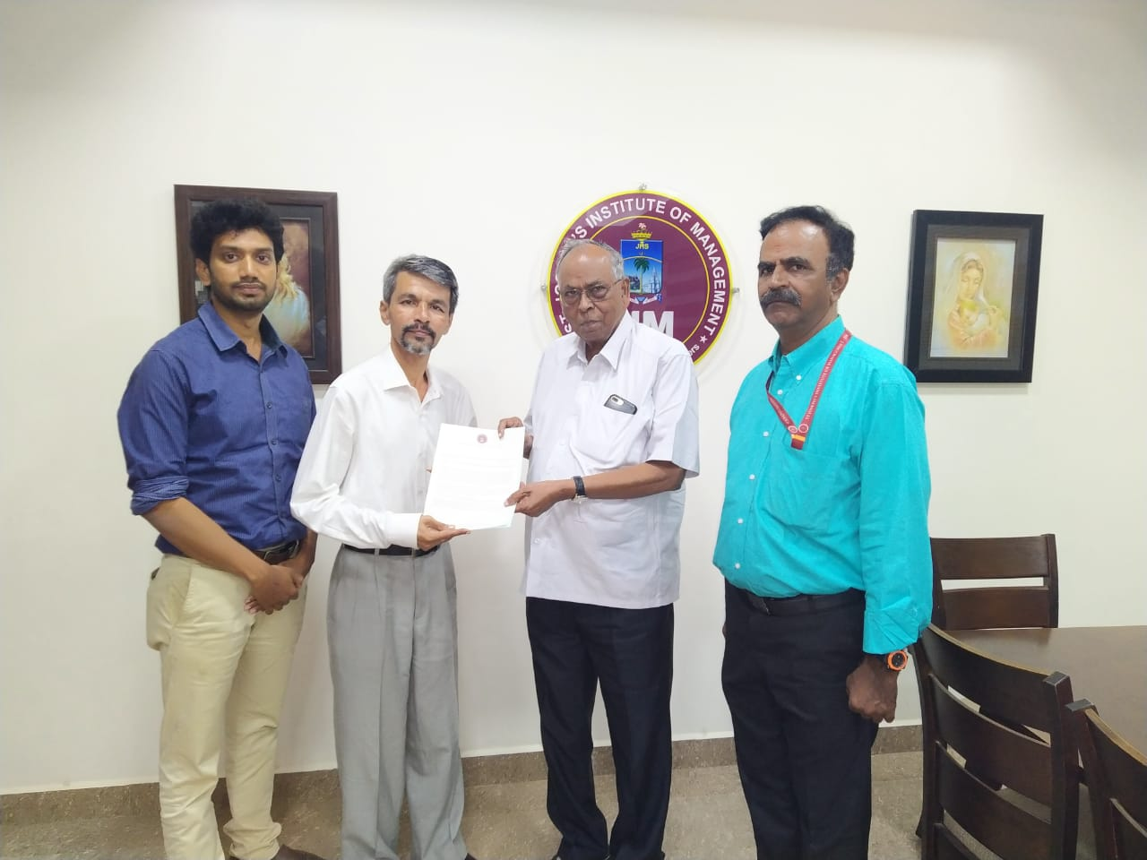 MoU signed with St.Joseph College, Trichy