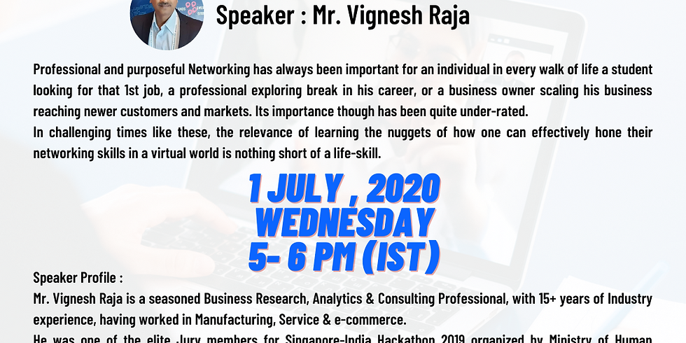 Networking effectively in a Virtual World