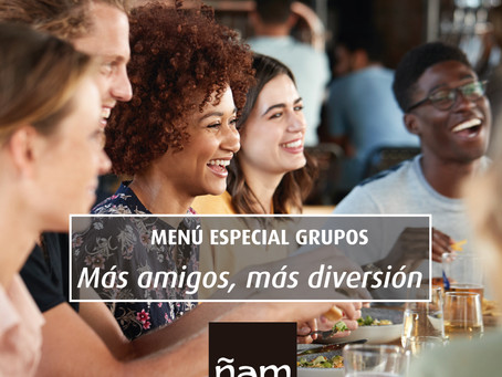 Menú especial grupos en Ñam Sarasate