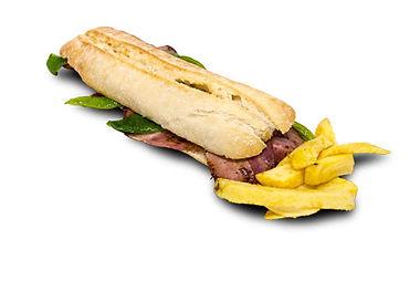 Bocadillos Ñam: Beicon crujiente con pimientos verdes y queso fundido.