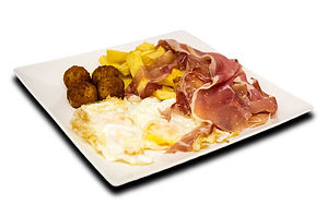 Plato Combinado Huevos fritos