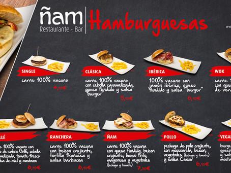 NUESTRA CARTA DE HAMBURGUESAS