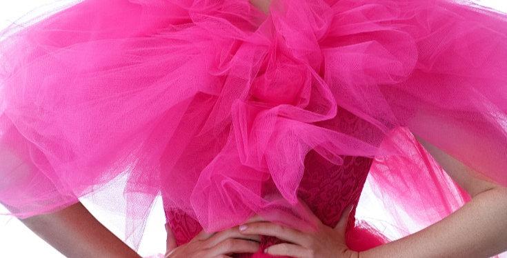 Regal Pink Tulle Bodysuit