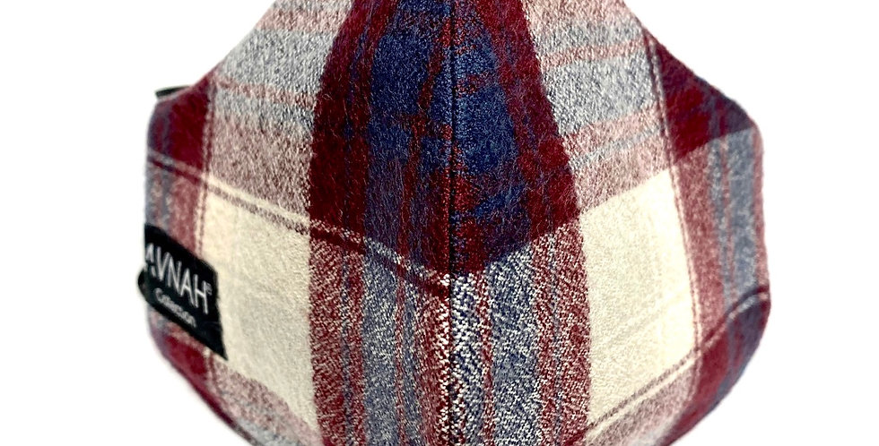 Plaid Flannel Mask / Elastic Placement: Around Head