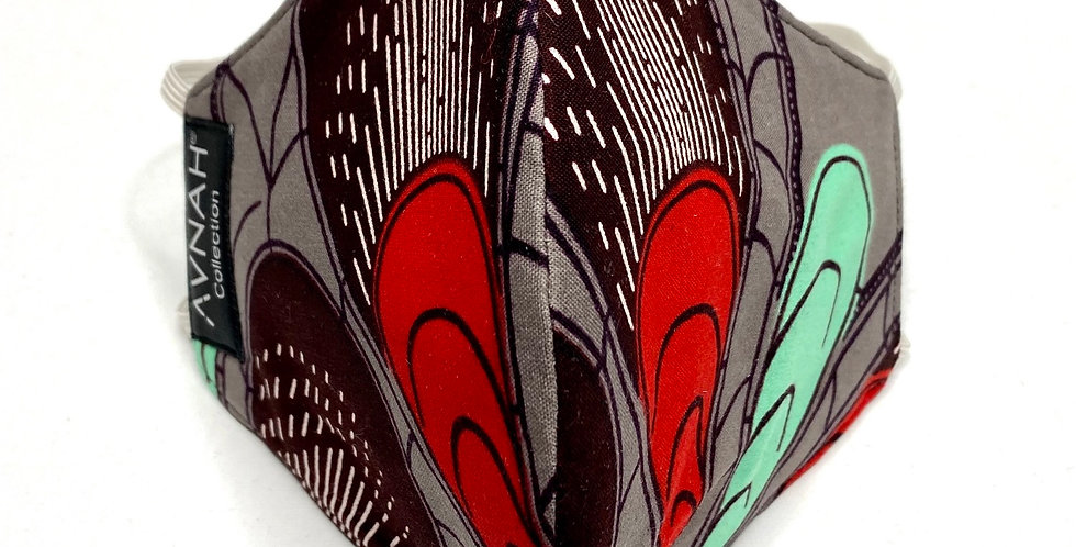 Fabric Face Mask / Kanai / Elastic Placement: Around Head / Cut -Under eye curve