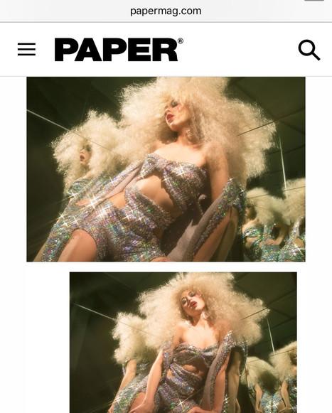 Riley Reid wearing AVNAH for Paper Magazine