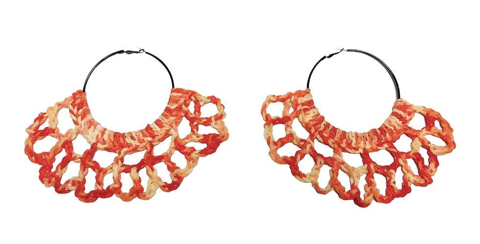 Island Crochet Fan Earrings