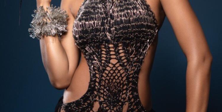 Laylah Metal Pin and crochet body Suit