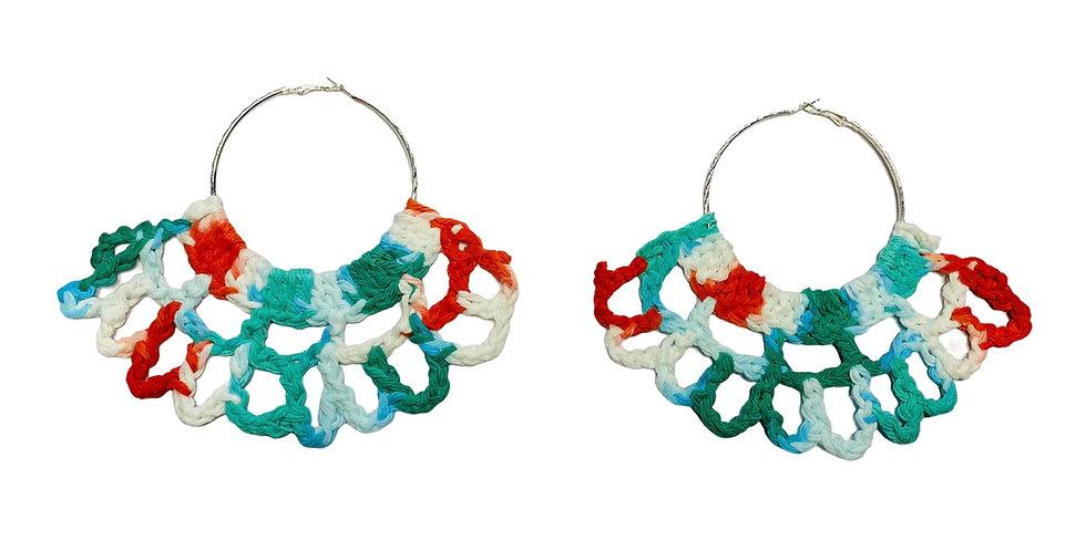 Breezie Crochet Fan Earrings