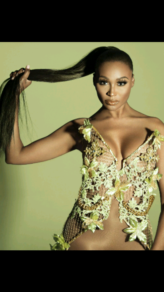 Cynthia Bailey wearing AVNAH Cage floral corset