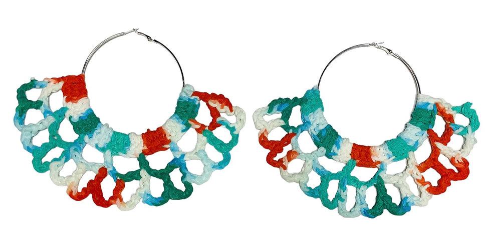 Breeze' Crochet Fan Earrings