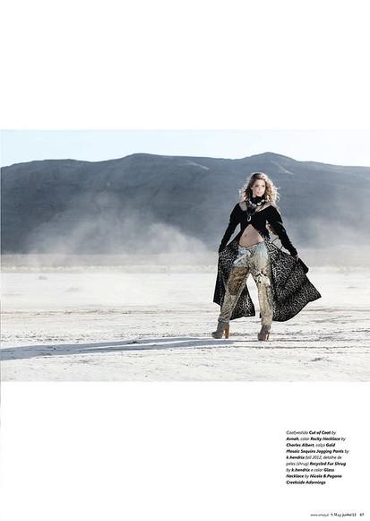 Sasha Pieterse wearing AVNAH trench coat
