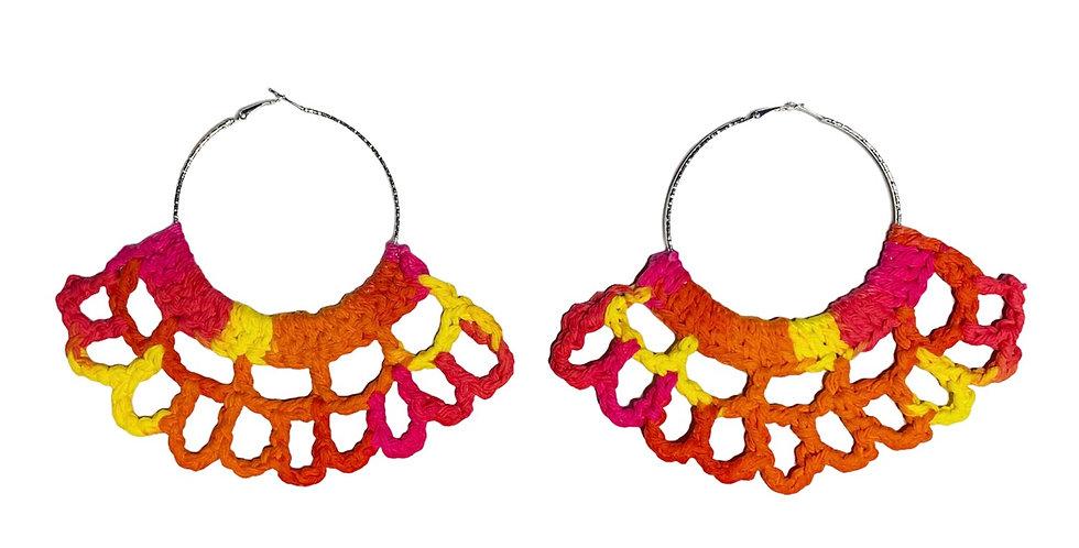 Sunburst Crochet Fan Earrings