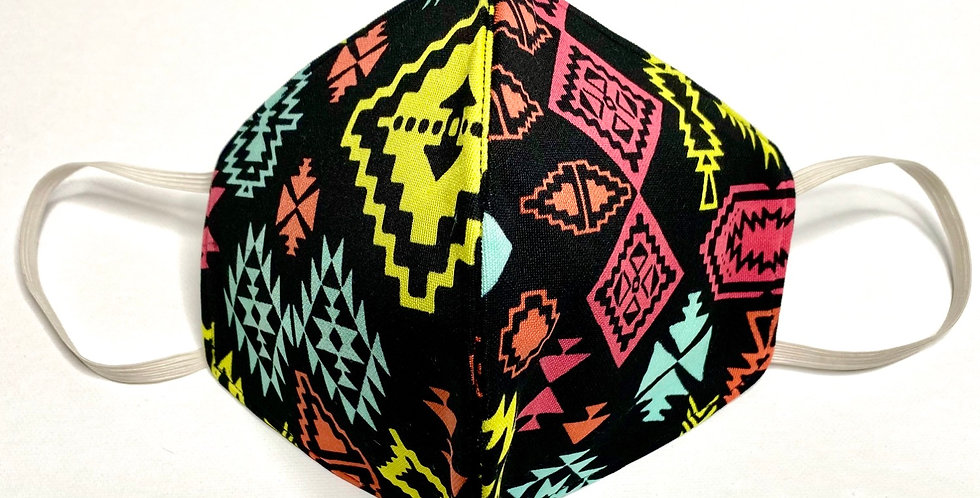 Fabric Face Mask / Aztec