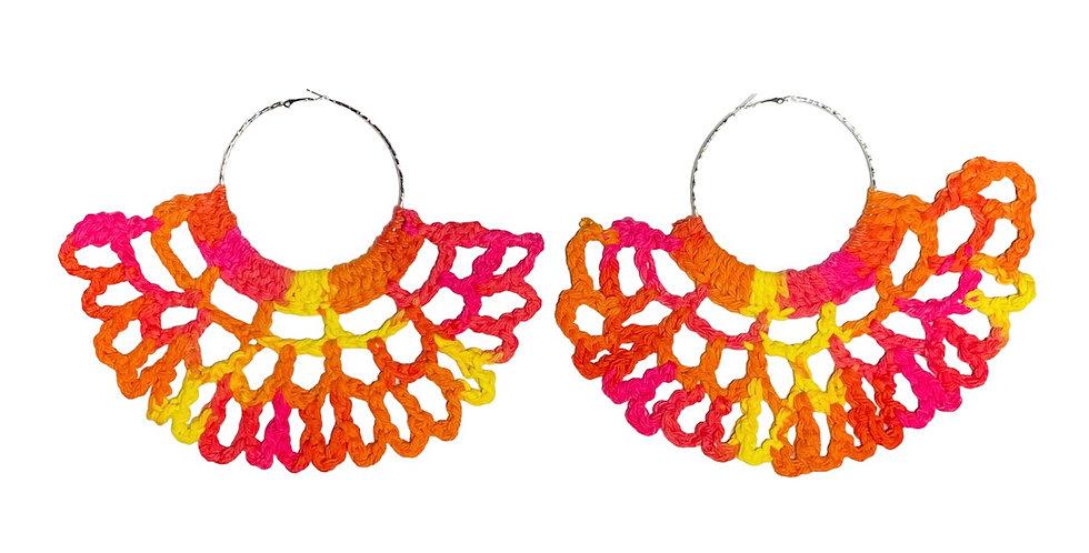 Deluxe Trini Crochet Fan Earrings