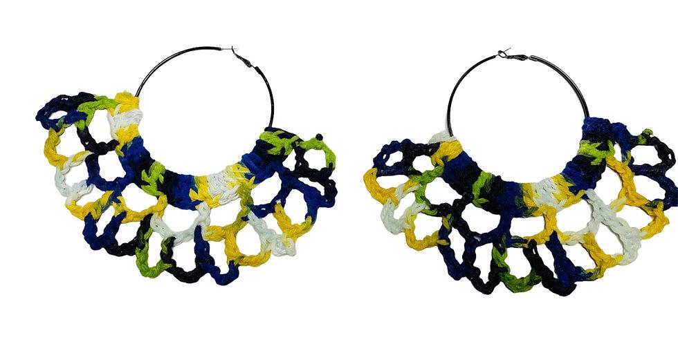 Caribbean Crochet Fan Earrings