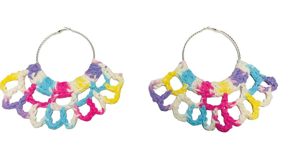 Yassss Crochet Fan Earrings
