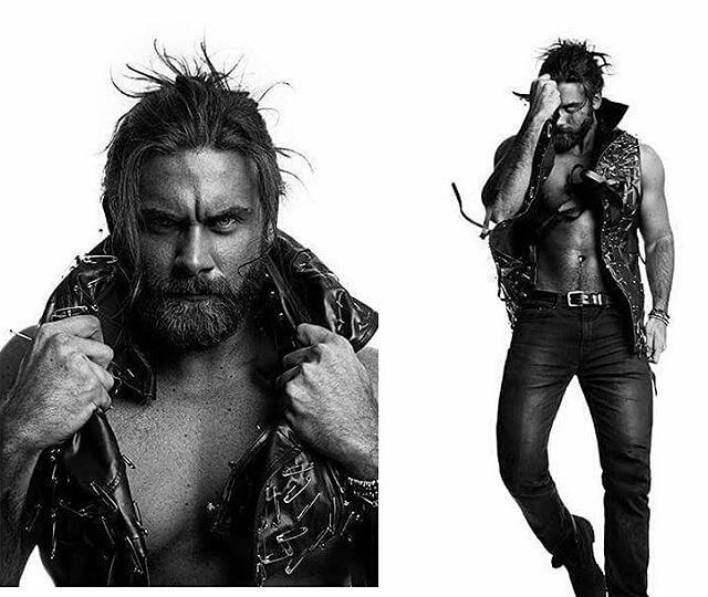 Brock O'Hurn wearing AVNAH Leather and pin vest