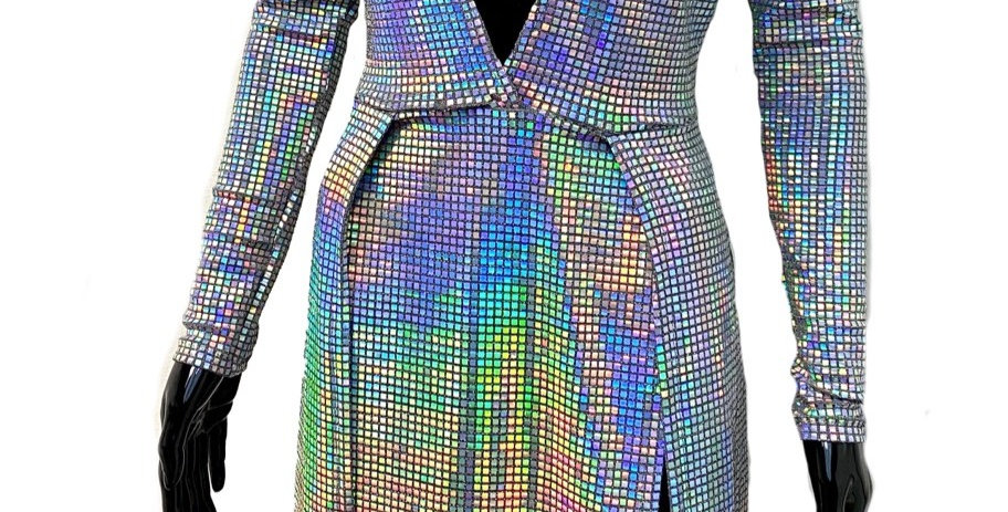 Iridescent Split Panel Dress