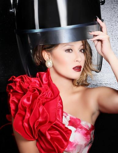 Adrienne Baillon Haughton wearing AVNAH Top