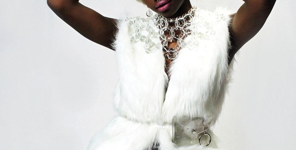 Adama Blanca Faux Fur Vest