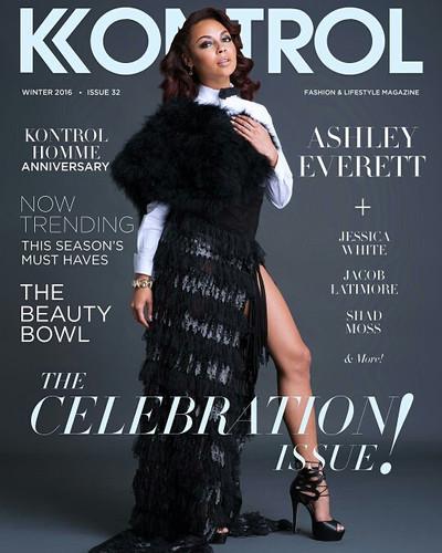 Ashley Everette wearing AVNAH leather and tassel skirt