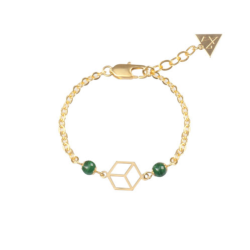 "BRACELET ""EARTH"" / PERLES MALACHITE"