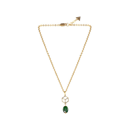 "COLLIER ""EARTH"" MINI / PERLE MALACHITE"